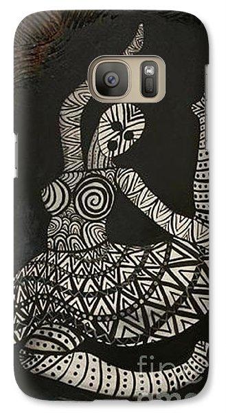 Galaxy Case featuring the painting Primal Dancer Origin by Kristen R Kennedy