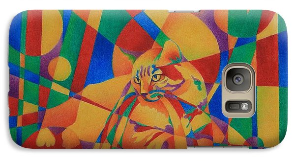 Galaxy Case featuring the painting Primary Cat IIi by Pamela Clements