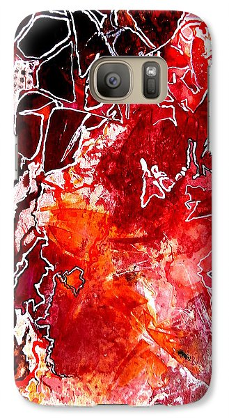 Galaxy Case featuring the painting Primeval by Buck Buchheister