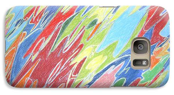 Galaxy Case featuring the painting Primeval Yearnings by Esther Newman-Cohen