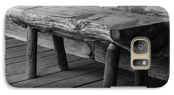 Galaxy Case featuring the photograph Primitive Wooden Bench by Robert Hebert