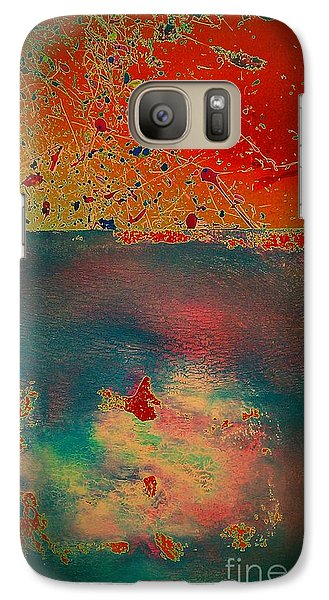 Galaxy Case featuring the painting Primordial by Jacqueline McReynolds