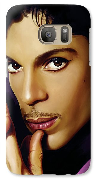 Rock And Roll Galaxy S7 Case - Prince Artwork by Sheraz A
