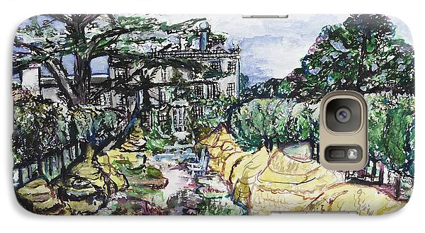 Galaxy Case featuring the painting Prince Charles Gardens by Helena Bebirian