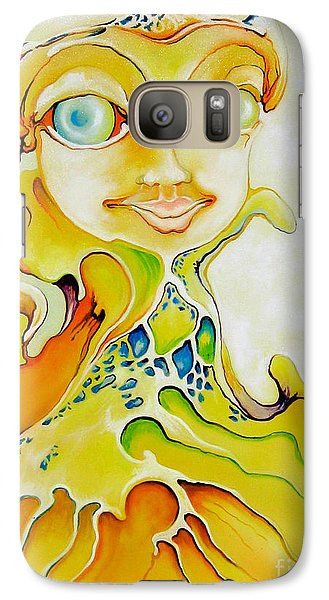 Galaxy Case featuring the painting Prince Of Deep Sea by Alexa Szlavics