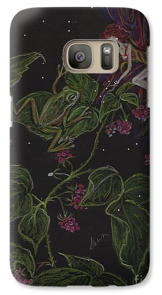 Galaxy Case featuring the drawing Prince Of The Berry Bushes by Dawn Fairies