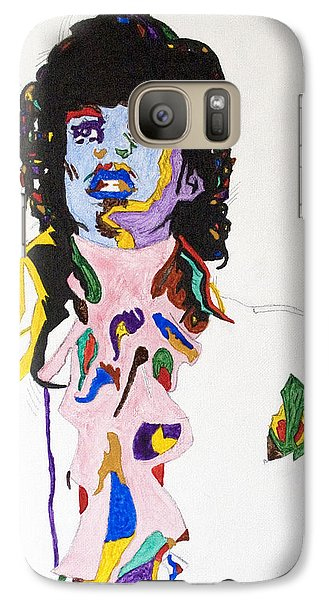 Galaxy Case featuring the painting Prince Purple Reign by Stormm Bradshaw