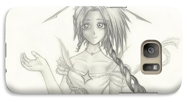 Galaxy Case featuring the drawing Princess Altiana by Shawn Dall
