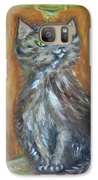 Galaxy Case featuring the painting Princess Kitty by Teresa White