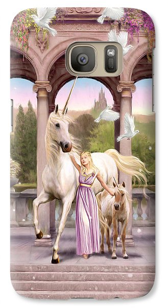 Princess Of The Unicorns Variant 1 Galaxy Case by Garry Walton