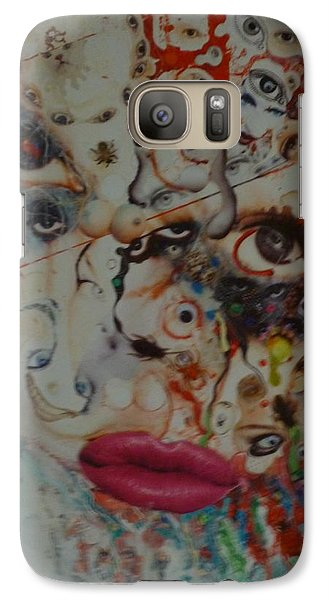 Galaxy Case featuring the mixed media Princess Roadkill by Douglas Fromm
