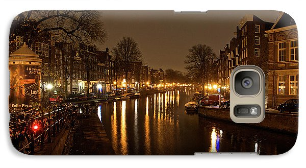 Galaxy Case featuring the photograph Prinsengracht Canal After Dark by Jonah  Anderson