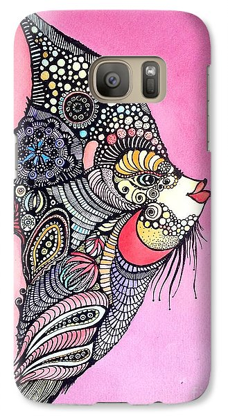 Galaxy Case featuring the painting Priscilla The Fish by Iya Carson