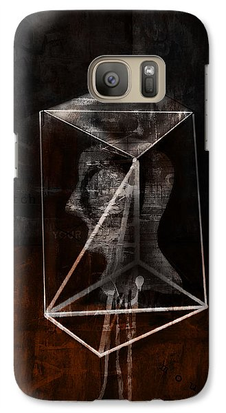 Galaxy Case featuring the mixed media Prism by Kim Gauge