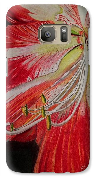 Galaxy Case featuring the photograph Prismacolor Amaryllis by Brigitte Emme