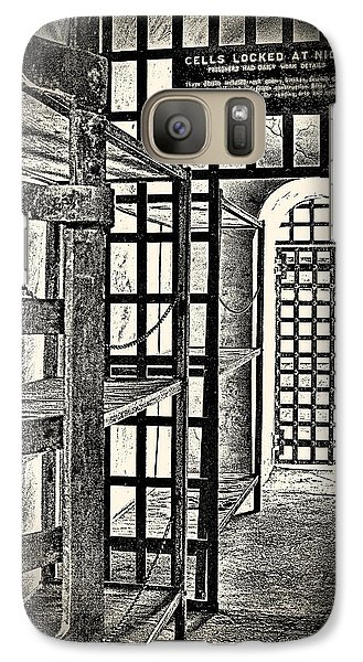 Galaxy Case featuring the photograph Prison Cell ... by Chuck Caramella