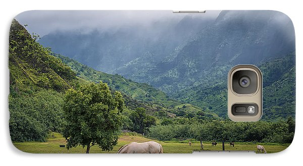 Galaxy Case featuring the photograph Pristine Pastures  by Hawaii  Fine Art Photography