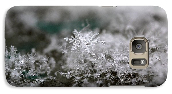 Galaxy Case featuring the photograph Pristine Snowflake by Stacey Zimmerman