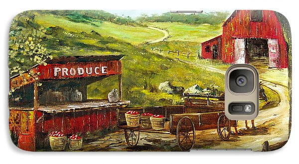 Galaxy Case featuring the painting Produce Stand by Lee Piper
