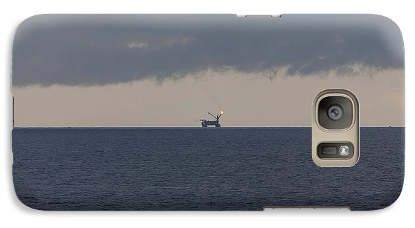 Galaxy Case featuring the photograph Production Platform Offshore Equatorial Guinea by Gregory Daley  PPSA