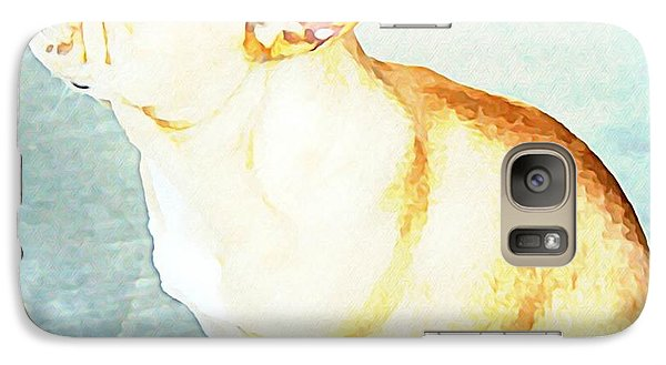 Galaxy Case featuring the painting Profile In Frenchie by Barbara Chichester