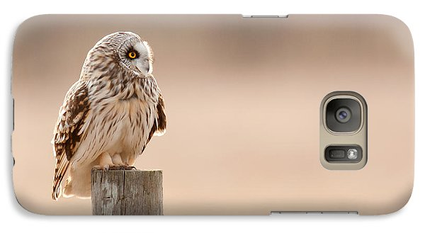 Galaxy Case featuring the photograph Profile Of A Short-eared Owl 1 by Timothy McIntyre
