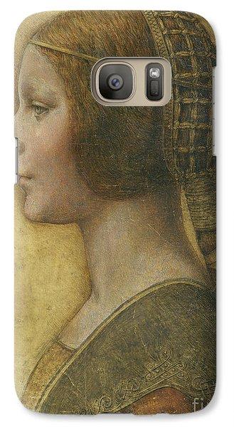 Portraits Galaxy S7 Case - Profile Of A Young Fiancee by Leonardo Da Vinci