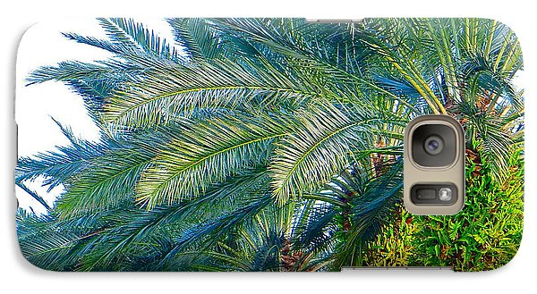 Galaxy Case featuring the photograph Progression Of Palms by Joy Hardee