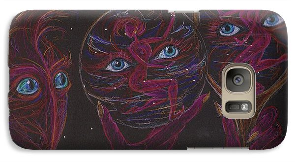 Galaxy Case featuring the drawing Projection Reflection by Dawn Fairies
