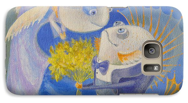 Galaxy Case featuring the painting Proposal by Marina Gnetetsky