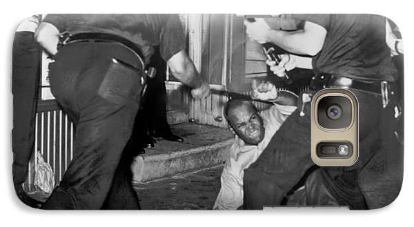 Protester Clubbed In Harlem Galaxy Case by Underwood Archives