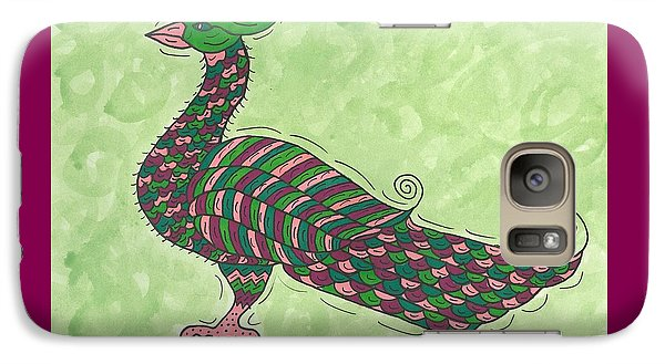 Galaxy Case featuring the painting Proud As A Peacock by Susie Weber