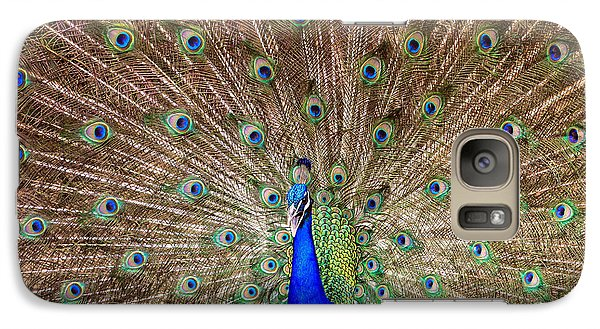 Galaxy Case featuring the photograph Proud Peacock by Geraldine DeBoer