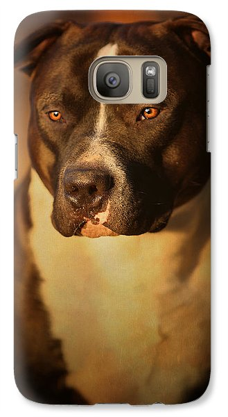 Bull Galaxy S7 Case - Proud Pit Bull by Larry Marshall