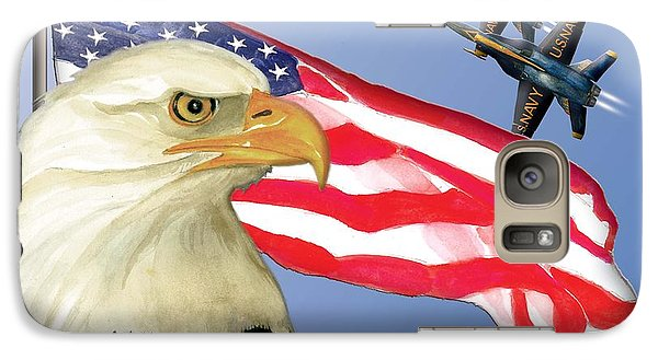Galaxy Case featuring the painting Proud To Be An American by Anne Beverley-Stamps