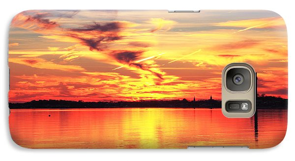 Galaxy Case featuring the photograph Provincetown Harbor Sunset by Roupen  Baker