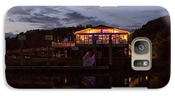 Galaxy Case featuring the photograph Provision Company Night 2 by Alan Raasch