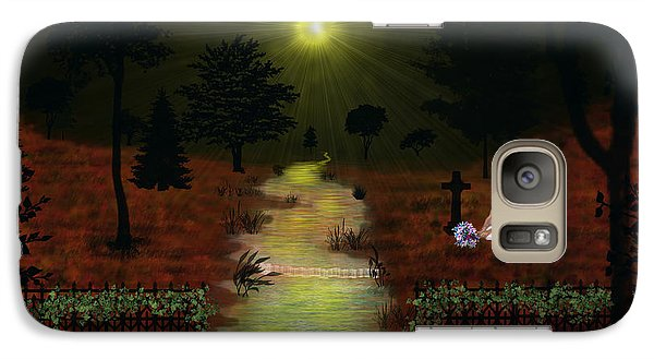 Galaxy Case featuring the digital art Psalm 23  by Michael Rucker