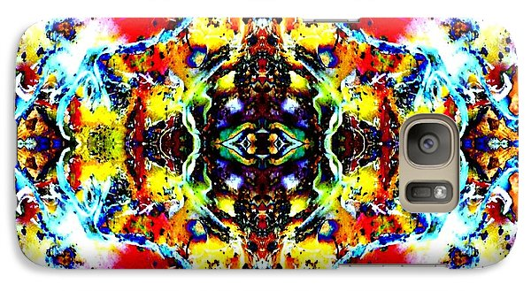 Galaxy Case featuring the photograph Psychedelic Abstraction by Marianne Dow