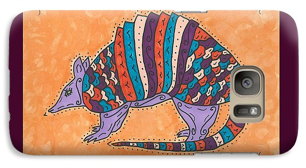 Galaxy Case featuring the painting Psychedelic Armadillo by Susie Weber