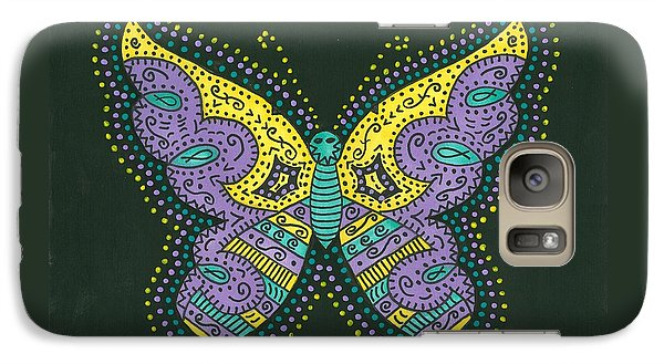 Galaxy Case featuring the painting Psychedelic Butterfly by Susie Weber