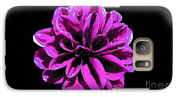Galaxy Case featuring the photograph Psychedelic Flower 1 by Sarah Mullin