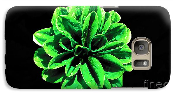 Galaxy Case featuring the photograph Psychedelic Flower 3 by Sarah Mullin