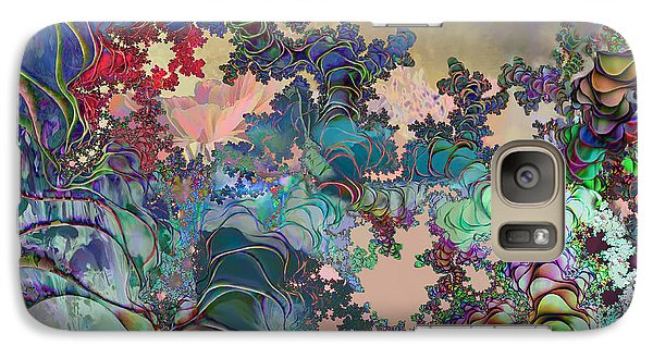Galaxy Case featuring the digital art Psychedelic Garden by Ursula Freer