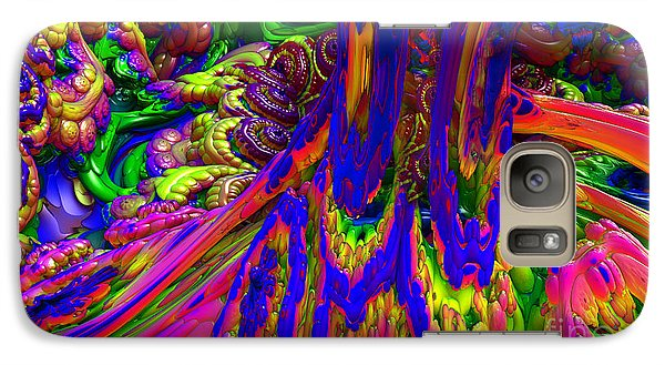 Galaxy Case featuring the digital art Psychedelic Pastries by Arlene Sundby