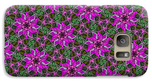 Galaxy Case featuring the digital art Psychedelic Pink by Elizabeth McTaggart