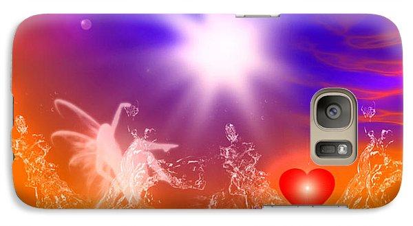 Galaxy Case featuring the digital art Psychic by Ute Posegga-Rudel