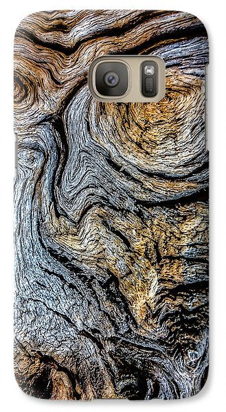 Galaxy Case featuring the photograph Psychedelic Wood by Beverly Parks