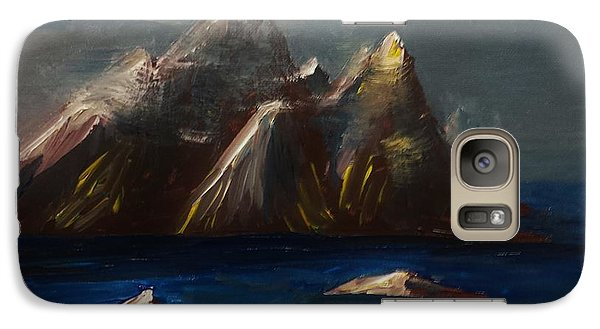 Galaxy Case featuring the painting ptg. Bamboo Music by Judy Via-Wolff