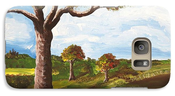 Galaxy Case featuring the painting Ptg. Late September Light by Judy Via-Wolff